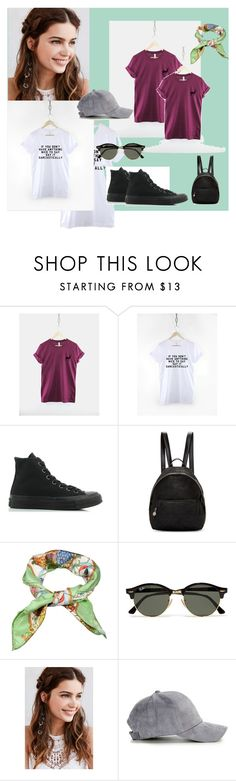 """""""& ResilienceStreetwear 15&"""" by nura-akane ❤ liked on Polyvore featuring Converse, STELLA McCARTNEY, Gucci, Ray-Ban and REGALROSE"""