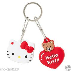 Hello #kitty little twin #stars,my melody soft #rubber key cap cover chain 1set 2,  View more on the LINK: http://www.zeppy.io/product/gb/2/302175536912/