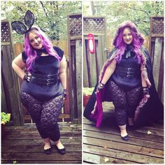 Spooky #bunny Halloween #costume! Complete with gorgeous #pastel #purple hair.