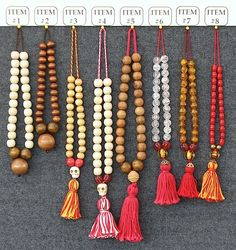 Rosary, 'Museum of London' (1400) This group patterned after a string of 27 round, wooden rosary beads in the collection of the Museum of London. (MoL accession number 5079, found at Worship Street, Finsbury in 1890).
