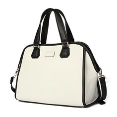 Kadell Women Cross Body Shoulder Bags Elegent Handbags Purse Satchel Bag White -- Want to know more, click on the image.Note:It is affiliate link to Amazon.