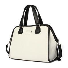 Kadell Women Cross Body Shoulder Bags Elegent Handbags Purse Satchel Bag  White  Handbags  Amazon.com 2c946f49f49d6