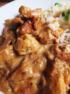 poulet champignon et creme