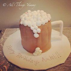 A #frothy #beermug #cake for a crazy boy!! #beermugcake #beer #froth #mug #atyummy #chocolatecake #chocolatetruffle