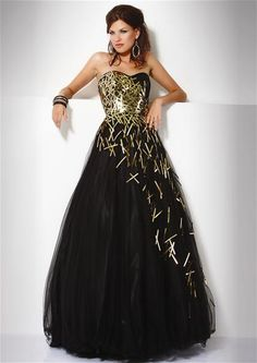 Cool black and gold prom dress--very unconventional