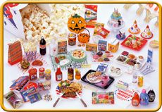 Re-ment miniature American Life #5 Trick or Treat at Halloween