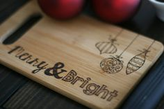 Christmas Cutting Board/ Cheese Board on Etsy, € 12,34