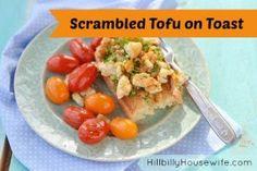 Scrambled Tofu on Toast for Breakfast