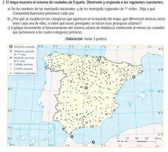 2007. Sistema de ciudades en España.