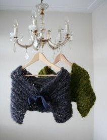 shawls with ribbon