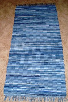 Rag rug made from recycled denim by Back Porch Country