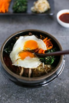 Bibimbap (Korean Mixed Rice with Meat and Assorted Vegetables) | MyKoreanKitchen.com