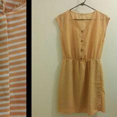 [Madison Jules] Mustard Stripe Dress Lovely mustard striped dress.  Good pre-loved condition. Maison Jules Dresses