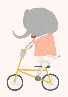 Margaux Rides Her Bicycle Art Print