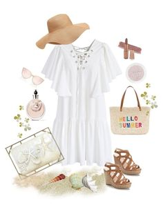 """""""Life Is A Beach"""" by m-aviles-ma ❤ liked on Polyvore featuring Chicwish, Jennifer Lopez, Old Navy, Pier 1 Imports and Valentino"""