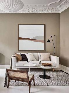 Apartment Interior Design, Home Interior, Living Room Interior, Living Room Decor, Decor Room, Interior Styling, Interior Decorating, Beige Living Rooms, Home Design