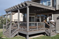 Grey Deck with Pergola : Quality of Deck with Pergola on Terrace ...