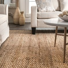 Southold Handmade Flatweave Natural Jute / Sisal Area Rug – Rug making Jute Rug, Living Room Carpet, Room Rugs, Sisal Area Rugs, Brown Rug, Rugs, Handwoven Rugs, Rugs In Living Room, Jute Rug Living Room