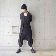 SS17 Men's style . Cardigan : #nudemm Tanktop : #thomkrom Trouser : #marclebihan Shoes : #portaille . #ss17 #monotone  #black #allblack #coordinate #fashion #outfit #outfits #ootd #minimal #instamood #style #instafashion #minimalmood #outfitoftheday #styleoftheday #avantgarde #slowfashion #fashionpost #minimalstyle #mode #moda #blackfashion #时装 #패션mora_fukuoka