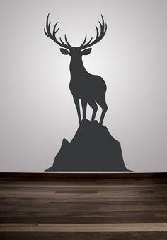 Wall Decal Animal Deer Buck Nature Wildlife Hunting Woodland Sportsman Sport. $55.00, via Etsy.