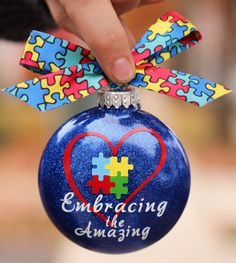 Autism Ornament https://www.facebook.com/pages/Simply-Just-Chic/1440853092863883?fref=photo