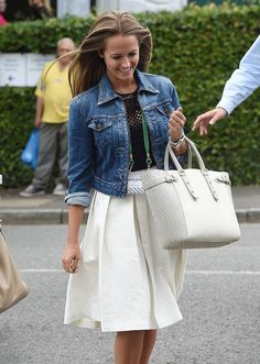 Kim Sears, andy murray, wimbledon, style, fashion, engagement, casual, flat shoes