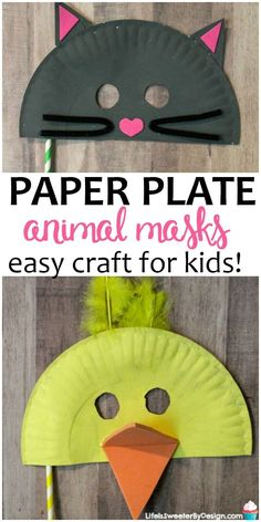 This Easy Paper Plate Mask Craft for Kids will keep them busy this summer. Paper… This Easy Paper Plate Mask Craft for Kids will keep them busy this summer. Paper plate animal masks are so fun to create and are the perfect kids craft idea. Paper Plate Animal Masks, Animal Masks For Kids, Animal Crafts For Kids, Toddler Crafts, Mask For Kids, Paper Plate Crafts For Kids, Easy Paper Crafts, Paper Crafting, Manualidades Halloween
