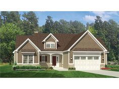 Home Plan HOMEPW77427 is a gorgeous 1915 sq ft, 1 story, 3 bedroom, 2 bathroom plan influenced by  Ranch  style architecture.