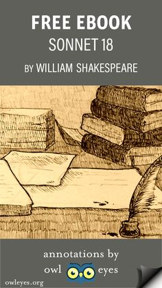 """Read """"Sonnet 18"""" by Shakespeare on any device for FREE at https://Owleyes.org!"""