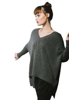 Feel The Piece Solid Poncho | ShopAmbience.  Perfect Transition piece to throw on with your jeans or leggings.  #FeelThePiece #StylishWarmth