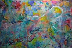 """For Sale 37"""" X 24""""   """"Let My Spirit Be Unchained""""   Acrylic painting on canvas / framed in wood  by Lisa Doffing"""