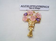 Hey, I found this really awesome Etsy listing at https://www.etsy.com/listing/218284606/pink-bouquet-brooch-pin-pink-flowers