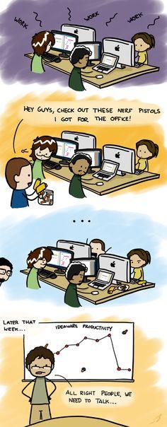 Do office toys decrease productivity? #comic