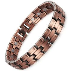 Unique Copper Bracelet Women Magnetic Bracelet Bangle Chain Link Jewelry Bracelet Pain Relieve In Copper Color. Yesterday's price: US $19.99 (16.32 EUR). Today's price: US $14.59 (11.95 EUR). Discount: 27%.