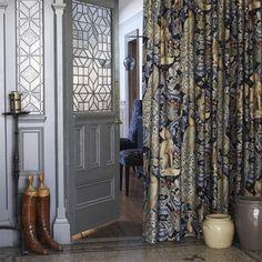 William Morris Forest Thick Linen Velvet Lined Winter Door Curtain Drop William Morris Wallpaper, Morris Wallpapers, Wide Curtains, Door Curtains, Tapestry Curtains, Pleated Curtains, Velvet Curtains, Hanging Curtains, Tapestries