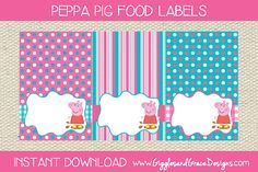 Image result for peppa pig party printables