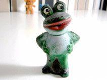 Figur aus Gummi Frosch Alte Vintage Figur