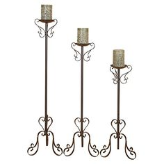 Amazing Aspire Home Accents Tall Candle Holders - Set of 3