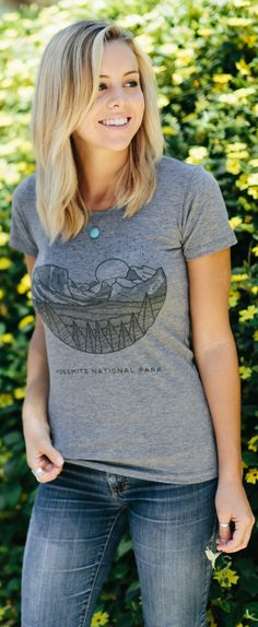 Heading to #Yosemite? Add this cute tee to your travel wardrobe! --- For every shirt purchased, Sevenly will donate to support the National Park Foundation.