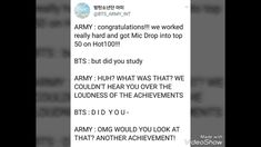 We just want bts to win more stuff and be recognized as the legends that they are, but they just want us to study. Oops.