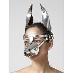 Ilya Fleet Silver Bondage Dog Mask. Coco de Mer.