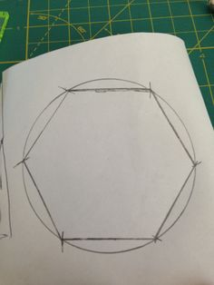 How To Draw A Hexagon With Only A Ruler Crafts Assorted