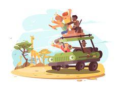 Tourists on safari by Anton Fritsler (kit8)