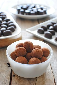 Homemade Chocolates and Fudgey Cognac Truffles / Bev Cooks