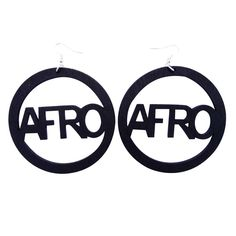 Afro earrings | Afrocentric earrings | Natural Hair Earrings | Afro | Afro punk fashion Available at http://www.EthnicEarring.com
