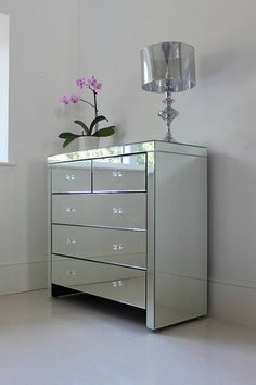 Countess Large Mirrored Chest Of Drawers by Out There Interiors