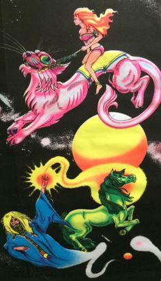 original-vintage-black-light-poster-originals-Moondance-Moon-dance-wizard-1970s