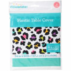 Way to Celebrate! Plastic Table Cover Image 2 of 3 Plastic Table Covers, Plastic Tables, Cheetah Birthday, Leopard Party, Grown Up Parties, Plastic Manufacturers, Get The Party Started, Special Day, Cool Designs