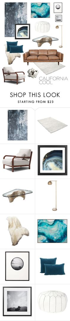 California Cool: Blue Abstract by theabstractlife on Polyvore featuring interior, interiors, interior design, home, home decor, interior decorating, Serena & Lily, Threshold, Retrò and Best Home Fashion