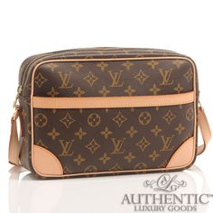 Louis Vuitton Trocedaro Mm Cross Body Messenger Monogram Brown Lv Canvas Handbag Ebay 850